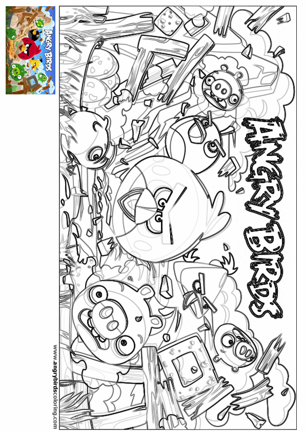 Angry Birds for coloring 2
