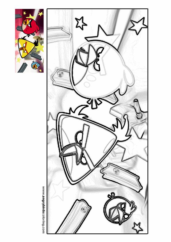 angry birds rio coloring pages - angry birds rio for coloring 1