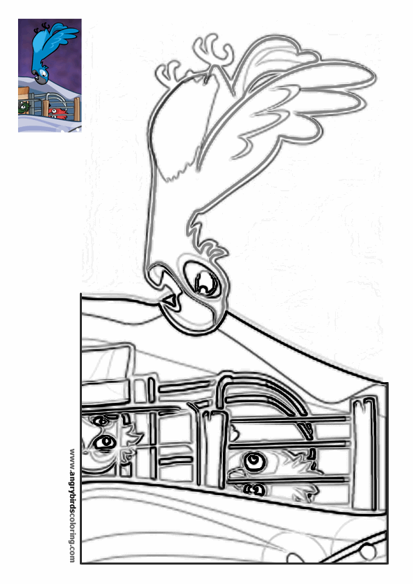 Angry birds rio for coloring 8 for Angry birds rio coloring pages