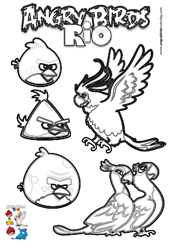 Angry Birds Rio For Coloring 16