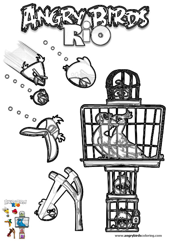 Angry birds rio for coloring 19 for Angry birds rio coloring pages