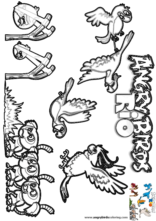 Angry Birds Rio For Coloring 20