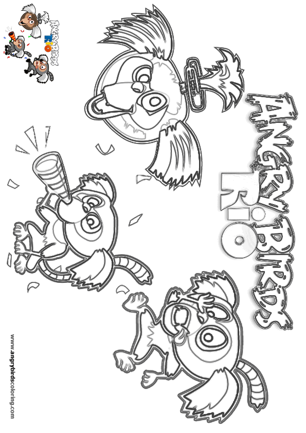 Angry Birds Rio For Coloring 22