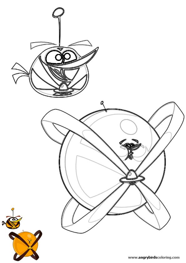 Angry Birds Space For Coloring 10