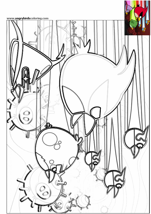 Angry birds space for coloring 14 for Angry birds space coloring pages