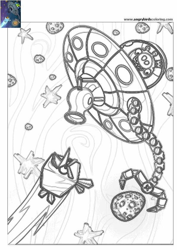 Ausmalbilder Angry Birds Space: Angry Birds Space Coloring Pages Sketch Coloring Page