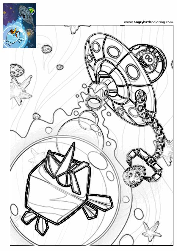 Ausmalbilder Angry Birds Space: Angry Birds Space For Coloring 19