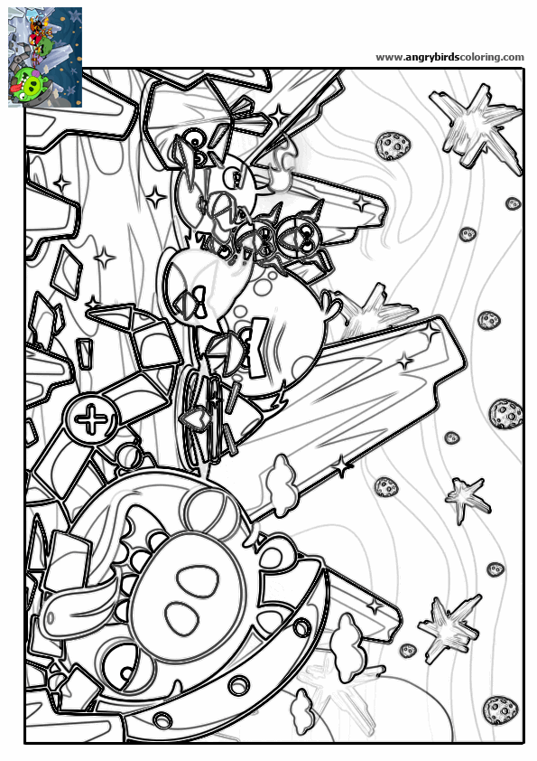 Angry Birds Space For Coloring 20