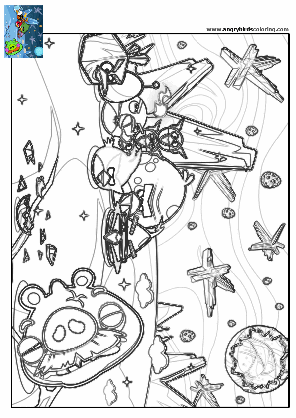 space angry bird coloring pages - photo#35