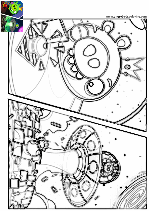 Angry Birds Space for coloring 27