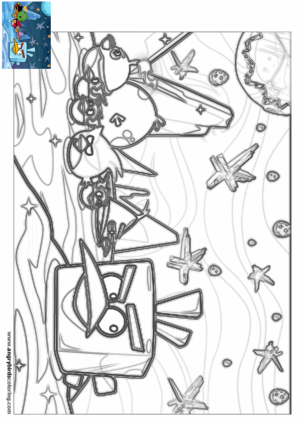 Angry Birds Space For Coloring 30