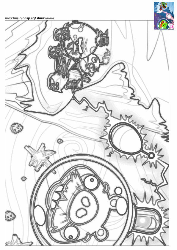Angry Birds Space For Coloring 32