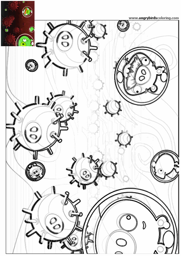 Ausmalbilder Angry Birds Space: Angry Birds Space For Coloring 37