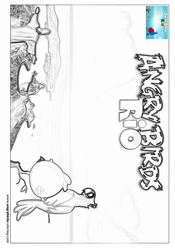 Angry Birds Rio For Coloring 15