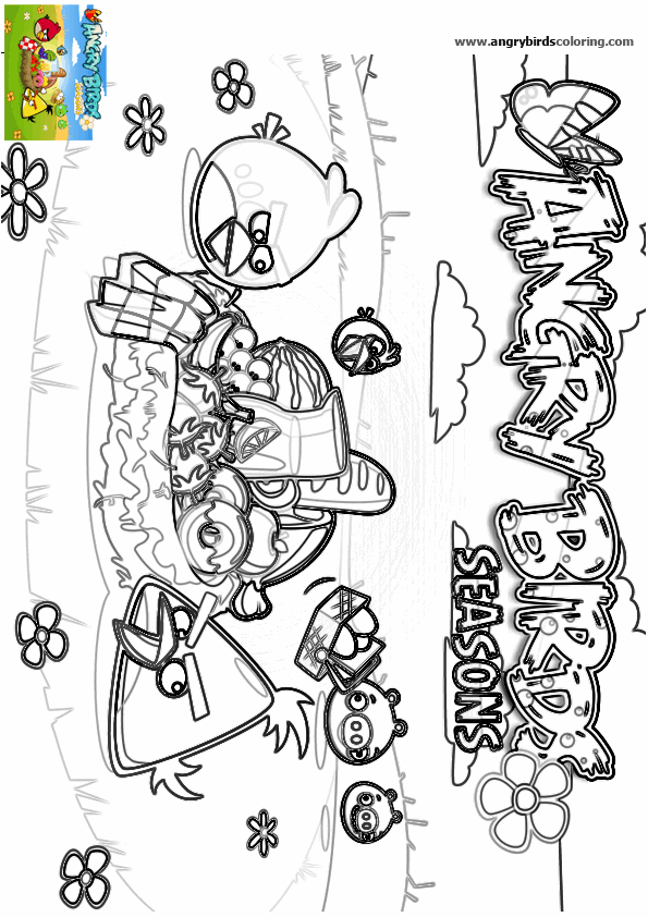 Angry Birds Seasons for coloring 3
