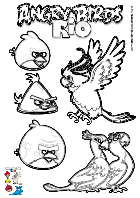 Rio Movie Characters Coloring Pages