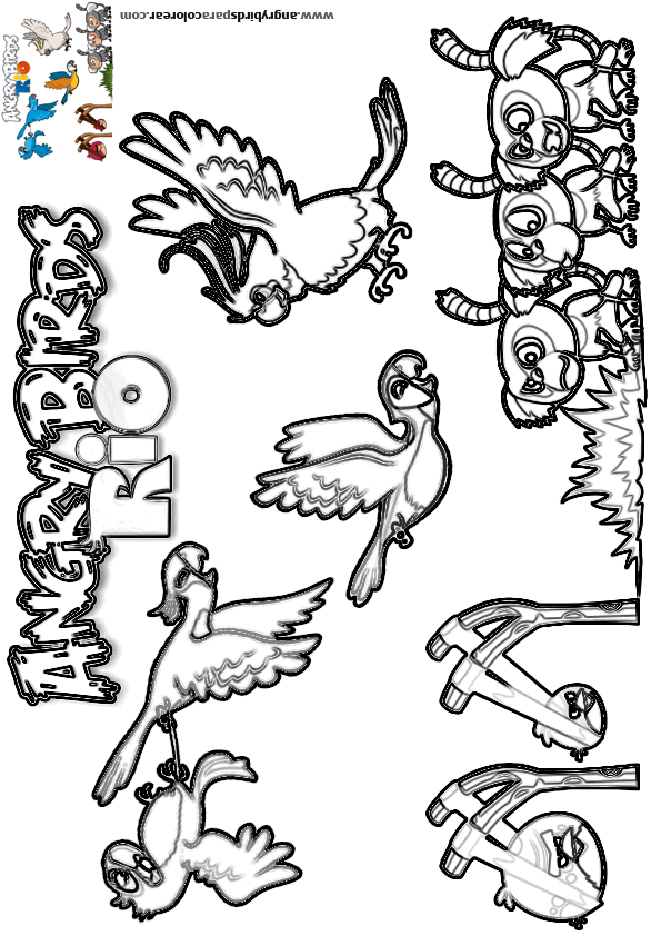Angry birds rio para colorear dibujo 20 for Angry birds rio coloring pages